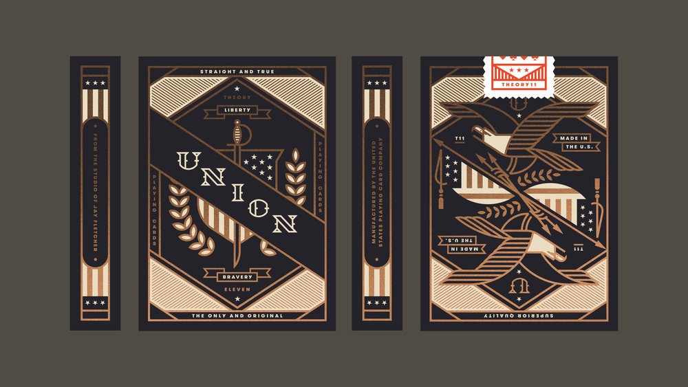 Union Playing Card Americana Box Design