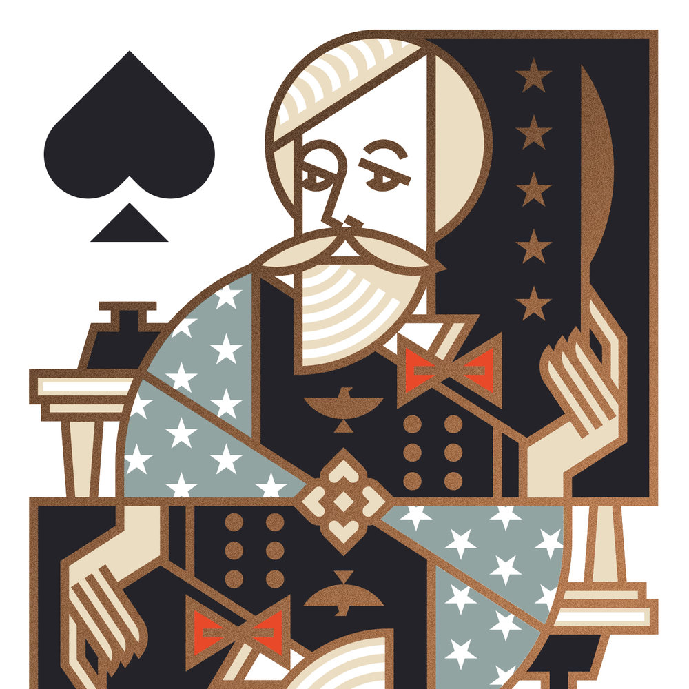 Union Playing Card King of Spades Illustration