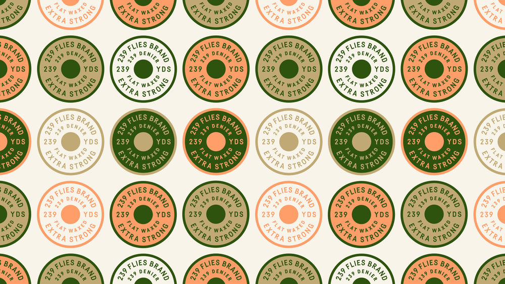 239 Flies Logo Pattern
