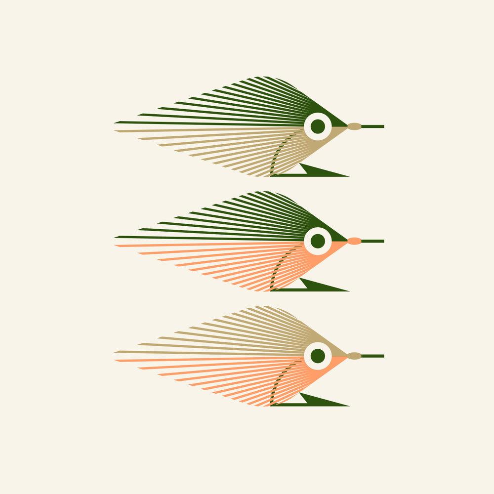 239 Flies Baitfish Fly Illustration