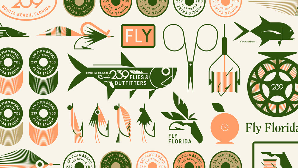 239 Flies Logo and Brand Identity Design