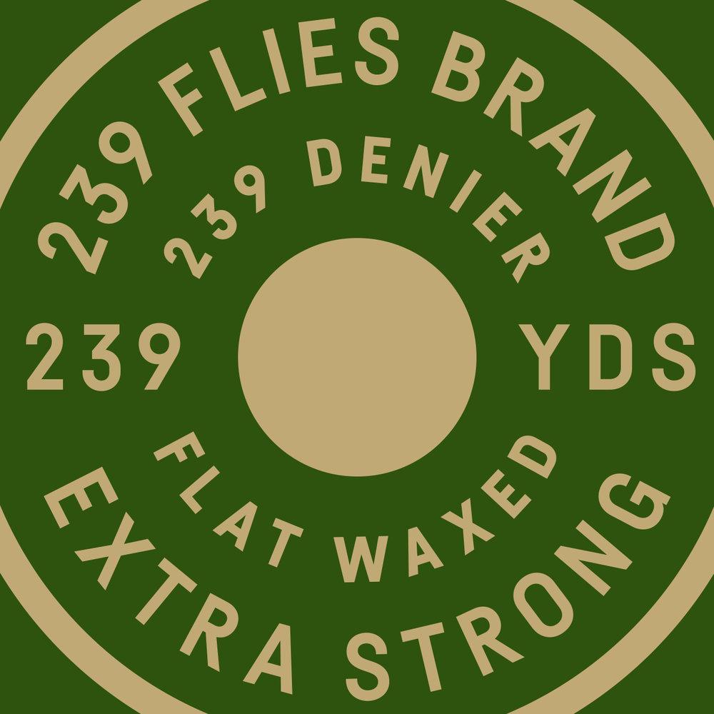 239 Flies Logo Thread Detail