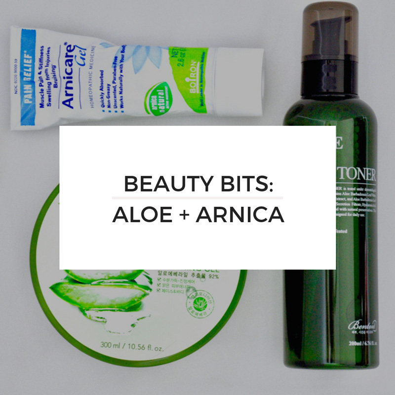 Beauty Bits: Aloe + Arnica — BITS by Beth | Beauty, Travel, and Life