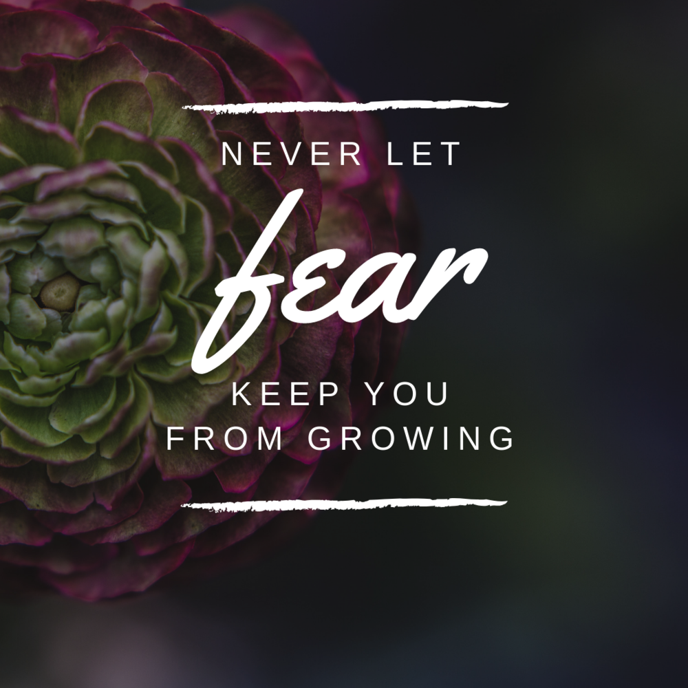 FEAR   Anything can be scary. But living in those fears is the scariest thing. Keep your head up and the wind to your back. You will get there.
