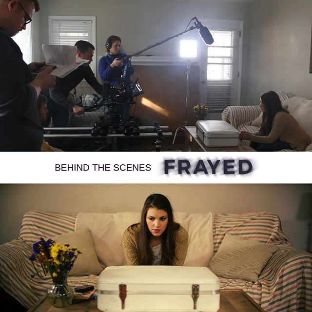 There's always so much work that goes into a film, no matter it's size! We want to celebrate the hard work of our DP, Steve Buckwalter @stevebuckwalter.  His AMAZING talent really brought the film to life!  #filmmaker #productionlife #dp #shortfilm #frayedshortfilm