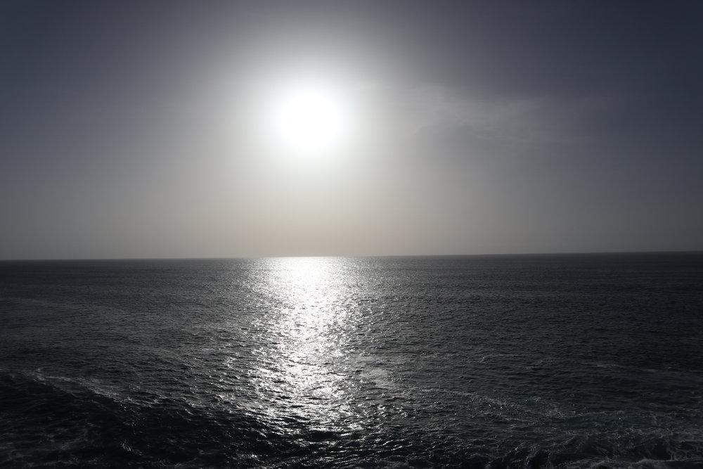 Evening sun on a calm sea