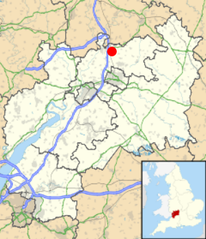 The locations of Ashchurch: A village in the Tewkesbury district of Gloucestershire.