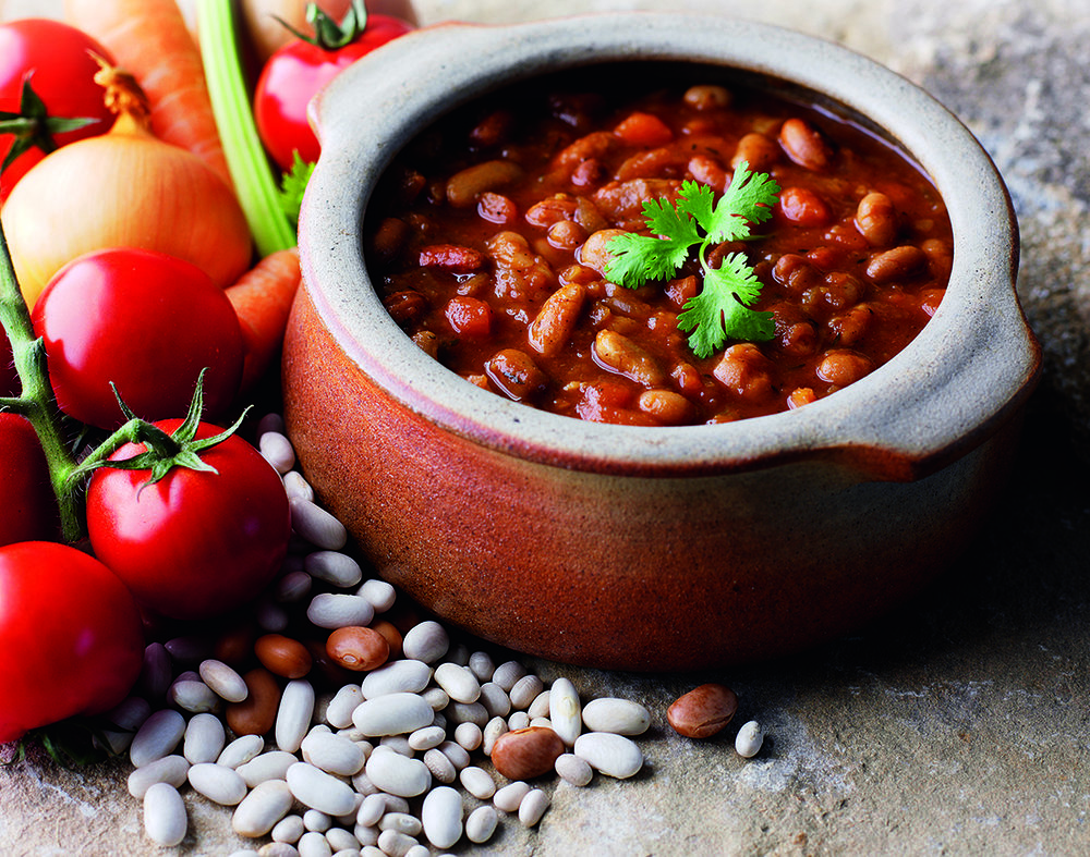 Bean Cassoulet - Haricot, pinto and cannellini beans in a rich and warming tomato sauce.