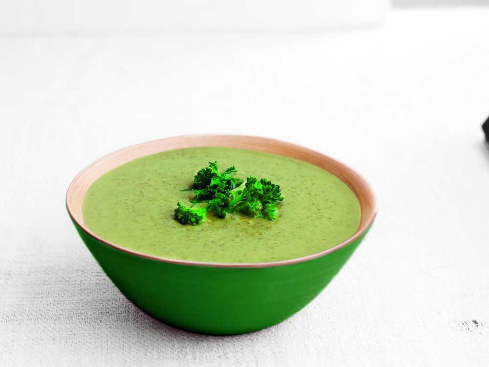 Broccoli & Kale    - Deliciously creamy and low fat.