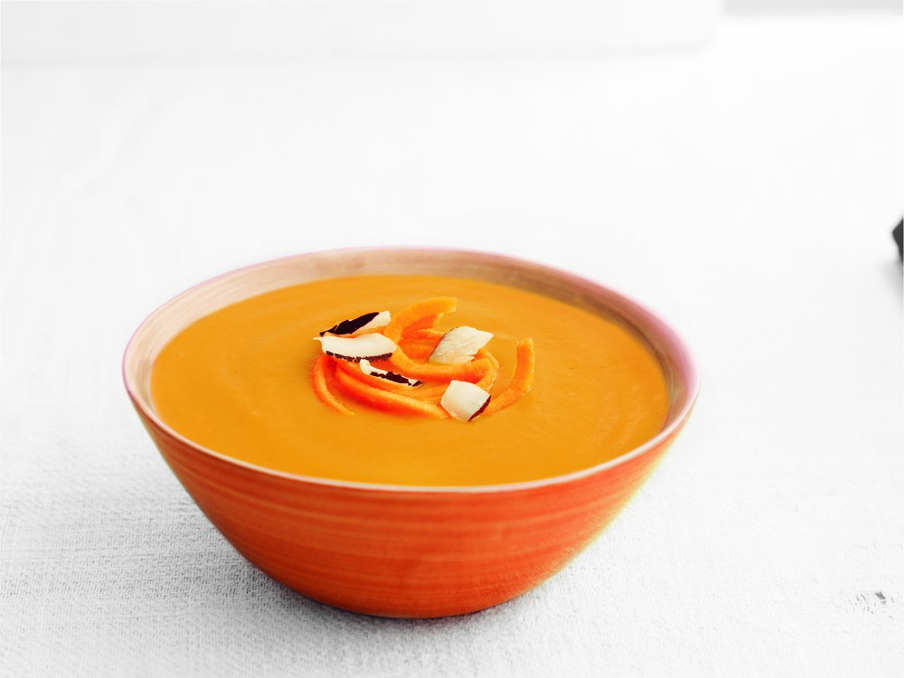 Carrot & Coconut - A blend of sweet carrot with fragrant, creamy coconut.