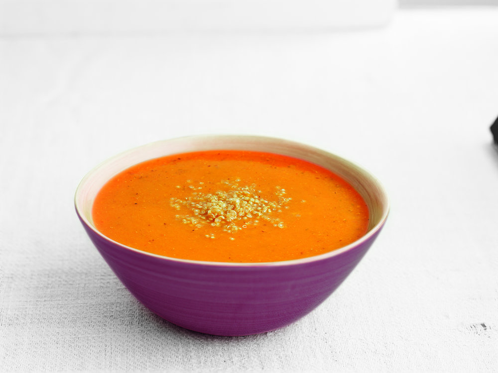 Sweet Potato & Quinoa Low Salt - This low salt soup is a winning combination of sweet potato and healthy quinoa.