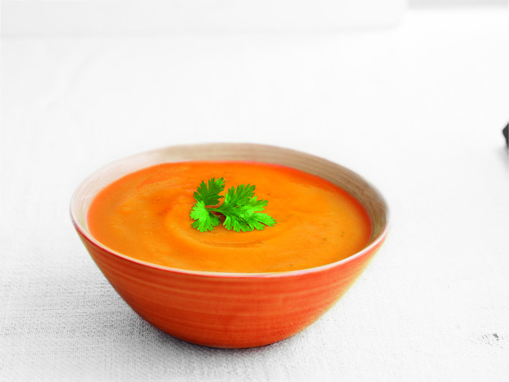 Carrot & Coriander Low Salt - A delicious mix of sweet carrot and fragrant coriander.