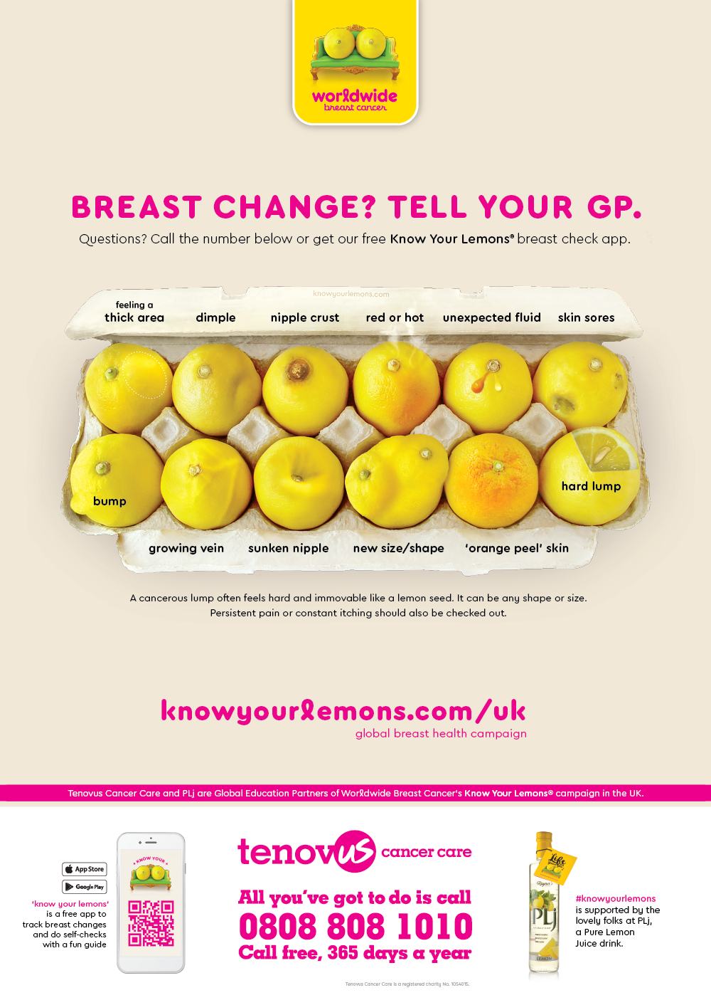 Creating awareness - Help spread the word by distributing our PLj sponsored posters in GP surgeries up and down the country.