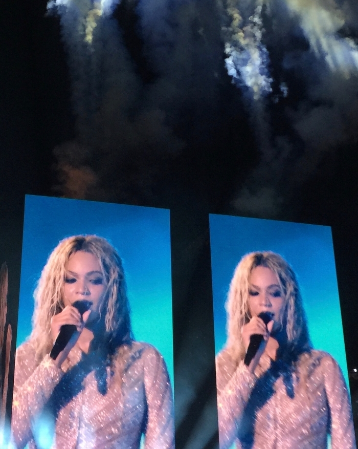 Honeycomb mom Judea Dee-Steele and I screamed our heads off and sweated our hair out when we went to see Beyonce on tour in Nashville Oct. 2, 2016 at Nissan Stadium. LAUREN FLOYD / INFO@HONEYCOMBMOMS.COM