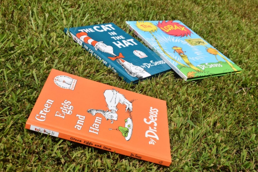 Dr. Seuss books are instant classics to Honeycomb moms and moms everywhere. These are a few favorites in the Floyd home. LAUREN FLOYD / INFO@HONEYCOMBMOMS.COM