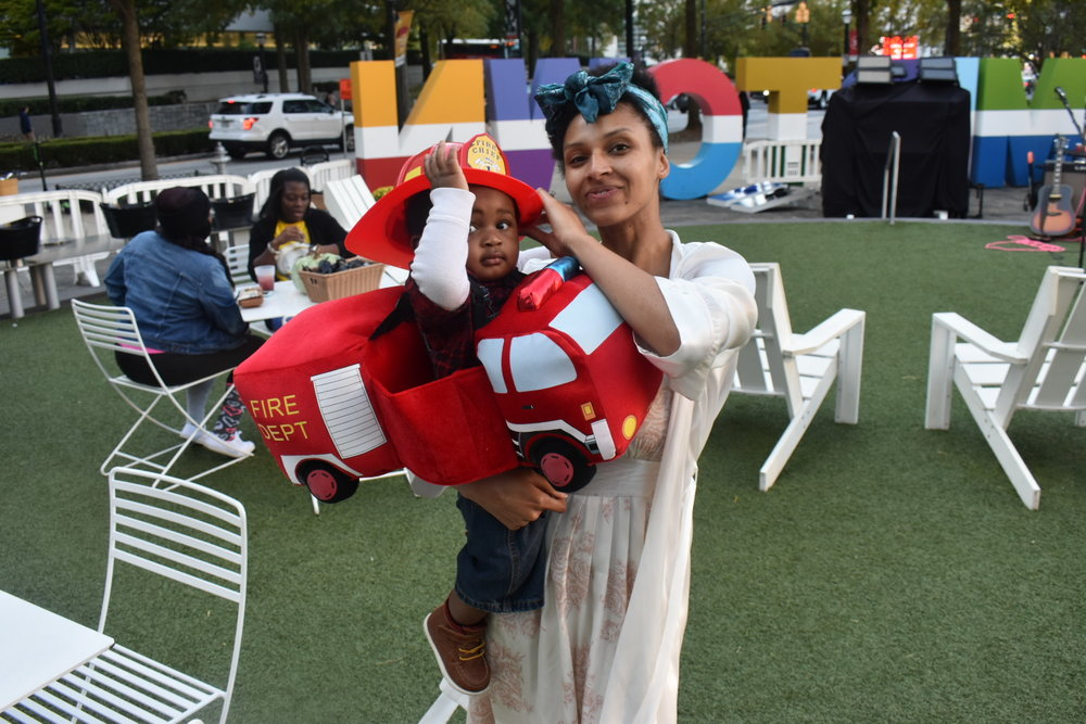 We made it out to Scare on the Square before all the other little trick-or-treaters filled Colony Square Tuesday in Midtown Atlanta. LAUREN FLOYD / INFO@HONEYCOMBMOMS.COM
