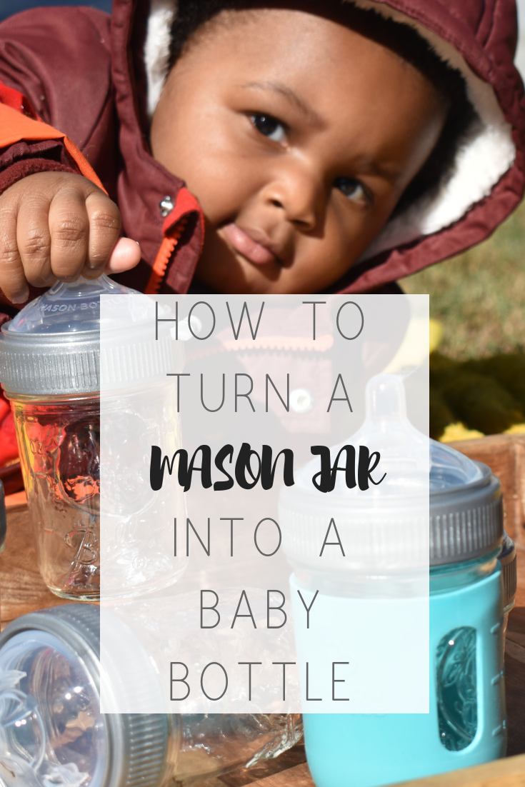 Get glass baby bottles under $5   Honeycomb Moms   I try to stay away from DIY projects whenever possible, but I couldn't help but make my own glass baby bottles. It's way too easy with bulk mason jars and Mason Bottle nipples and rings. LAUREN FLOYD / INFO@HONEYCOMBMOMS.COM