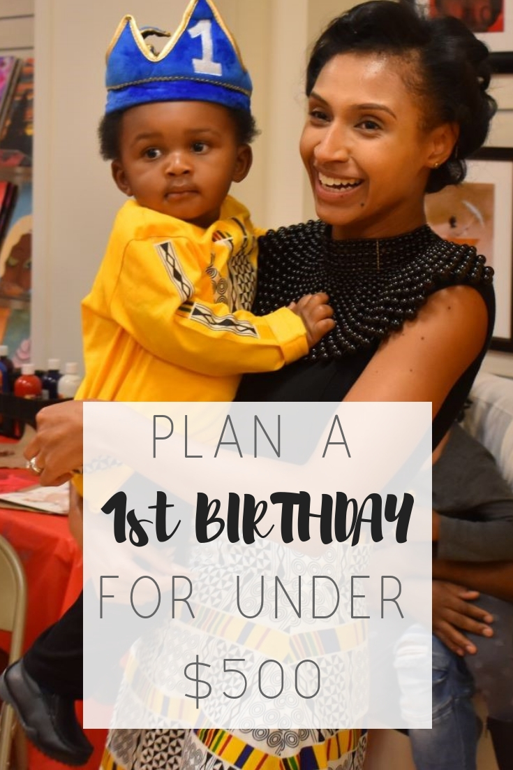 "How to plan a stress-free 1st birthday without breaking the bank | Honeycomb Moms | You don't have to spend a lot of money to host a memorable birthday for your 1-year-old. Copy my birthday plan for a reading-themed first birthday party. I won't be mad. I've got all the details on everything from a storybook invitation to a buffet table with chock full of foods from ""The Very Hungry Caterpillar."""