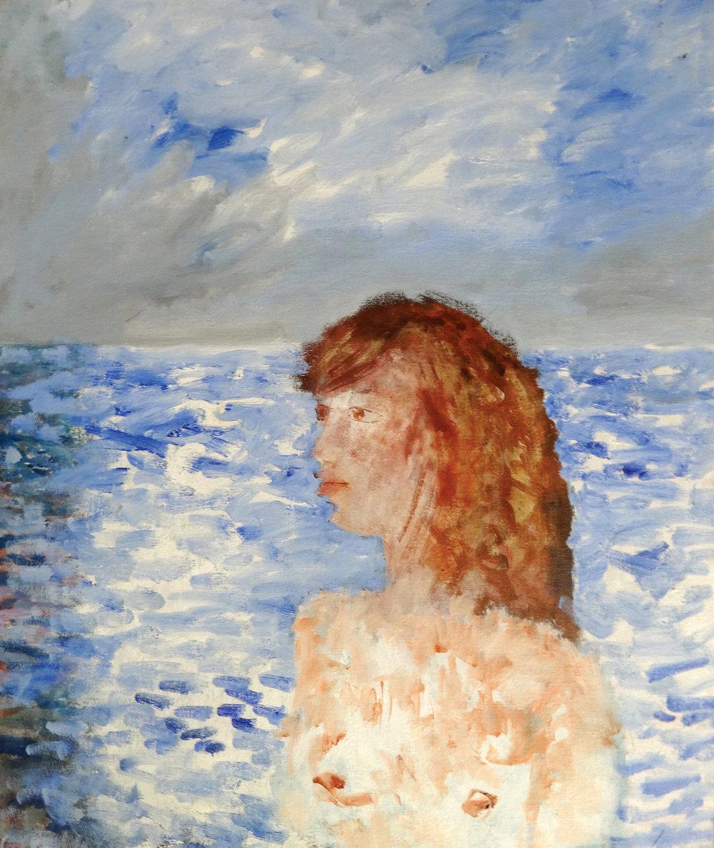 A Girl in the Sea , oil, 62x52cm