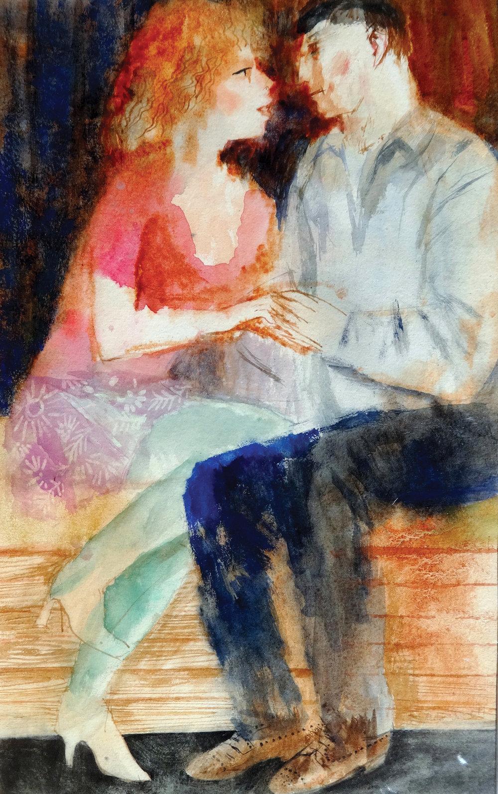 Close , watercolour, 52x32cm