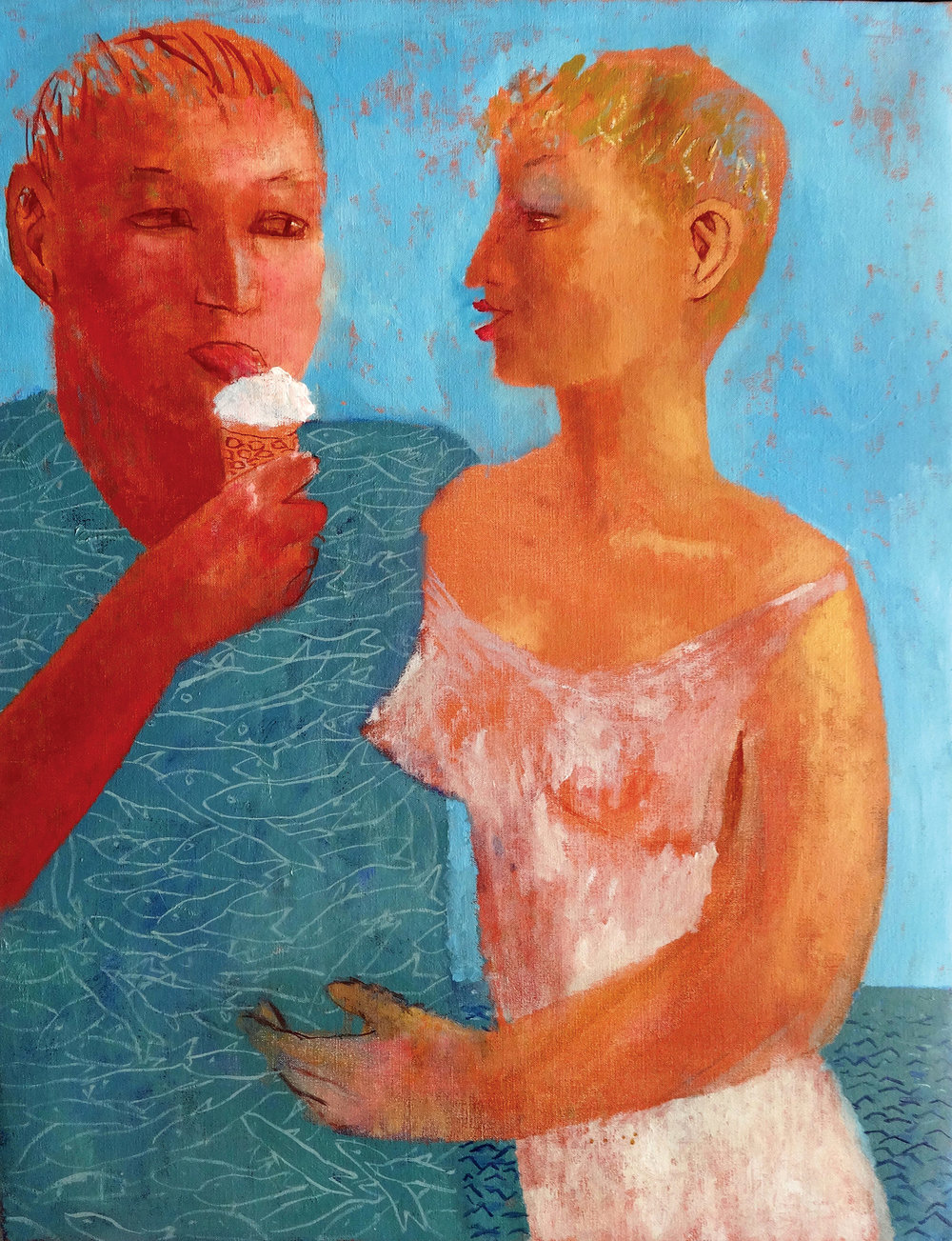 Ice cream , oil, 78x62cm