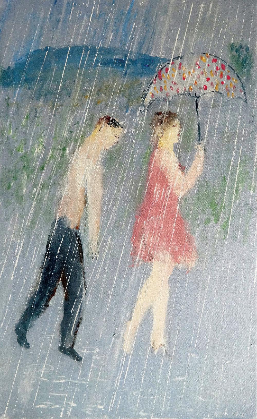 Rain , oil, 80x50cm