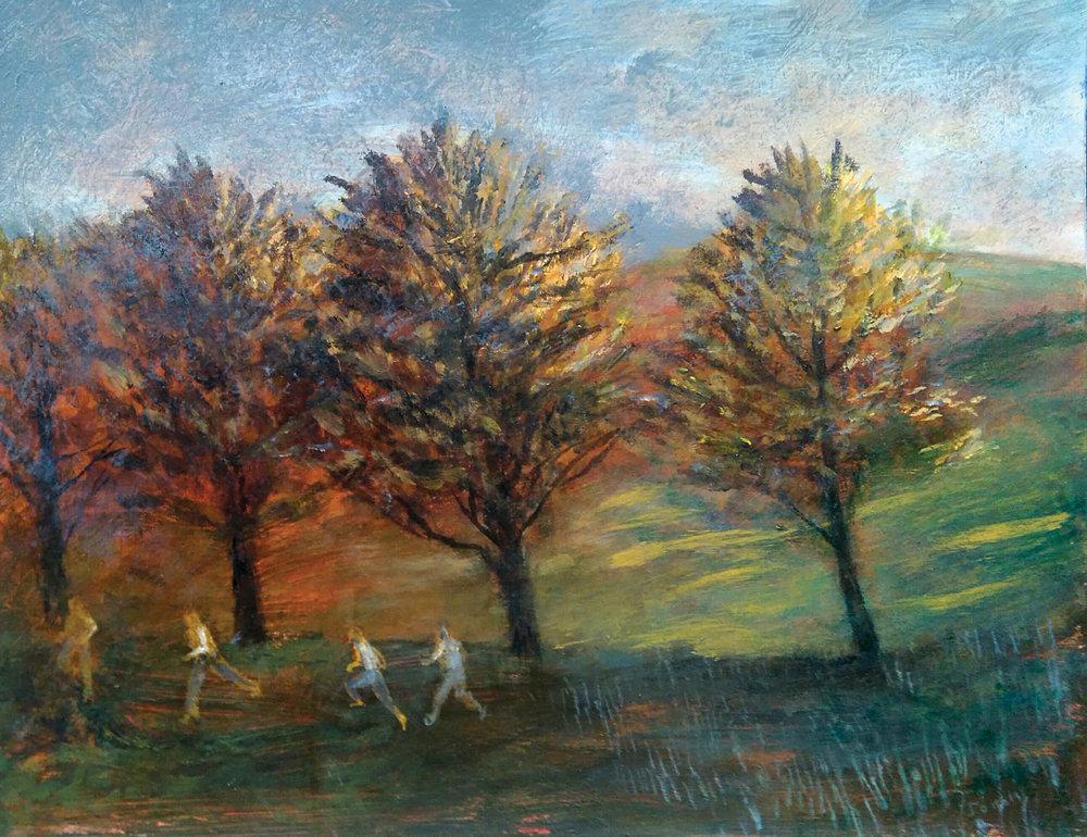 Four Trees , acrylic, 30x39cm