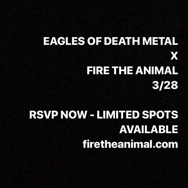Ladies and gents, there are legitimately only about 60 RSVP spots left - please go to FIRETHEANIMAL.COM and RSVP now to guarantee your entry to our show with @eodmofficial at @thehouseofmachines_la on 3/28. We really want all of our friends and fans to get in with no difficulties, but the only way we can guarantee that is if you RSVP now! Once you RSVP you'll receive an email with your confirmation and ticket. Cheers! 🤙🏽