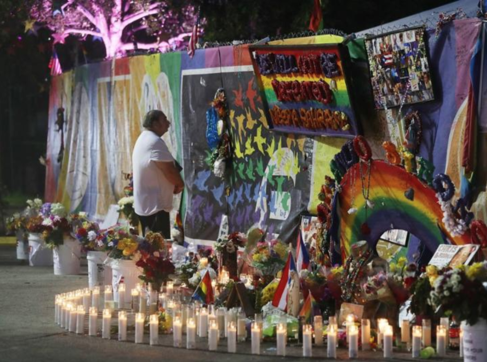 This memorial, one of too many, was outside  Pulse .