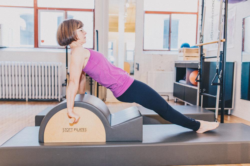Imprint Pilates Spine Corrector reverse plank, STOTT Pilates equipment
