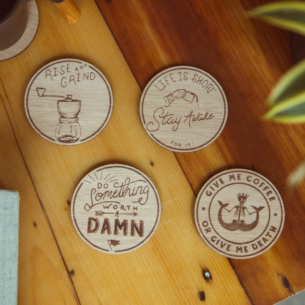 $32 - Artist edition coasters