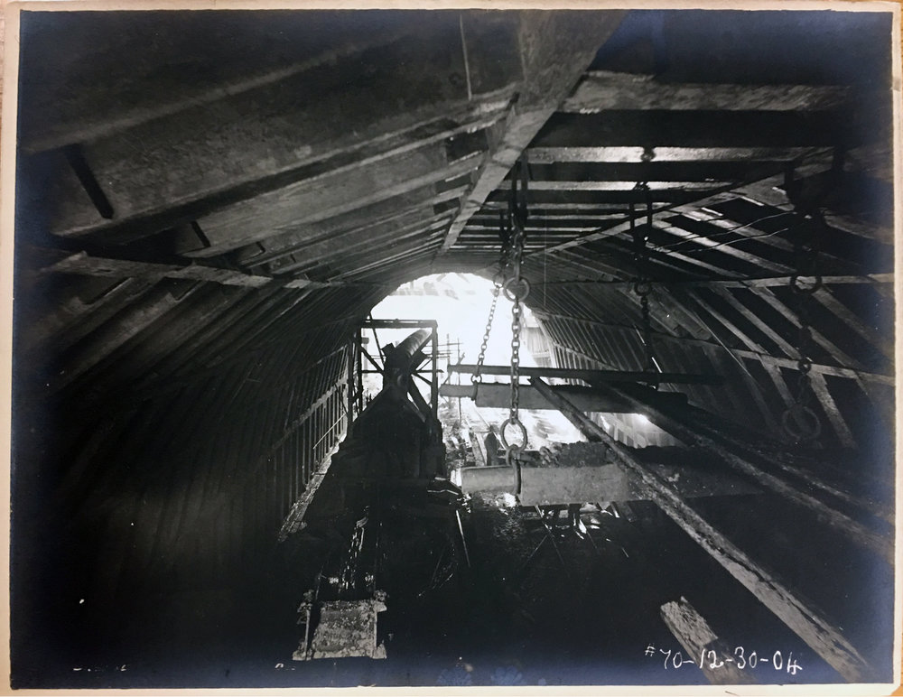 Interior view of the First Street Tunnel. Photo: Library of Congress Prints and Photographs Division/Public Domain