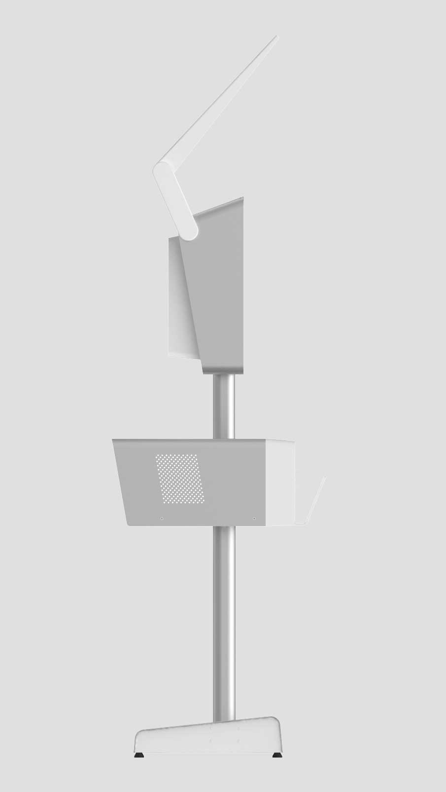 "Queso Tech Specs - Fully Extended Height: Approximately 84"" Long Pole Only Height: Approximately 65"