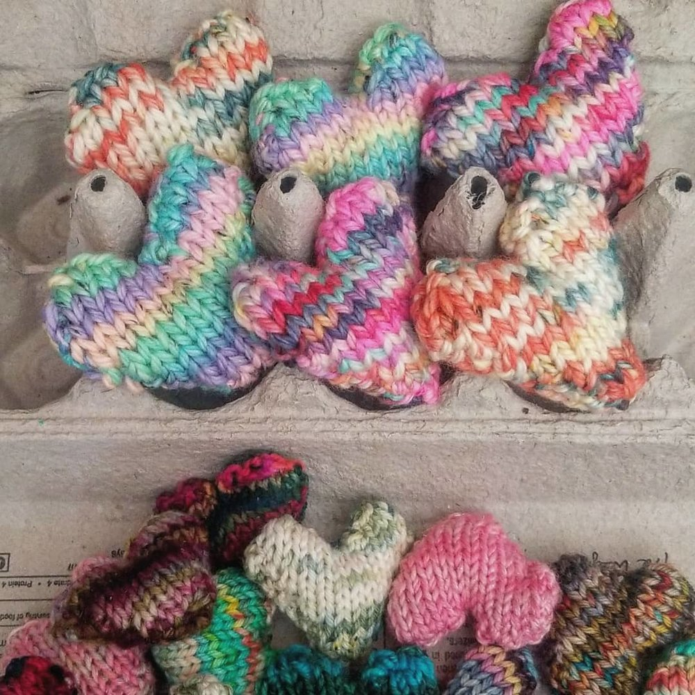 A sweet batch of scented, stuffed, #youmattermail hearts getting cozy for the trip to their new home!