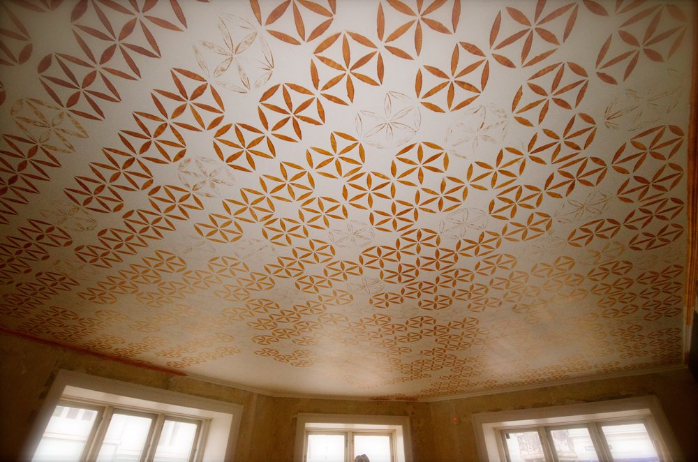 Stencil ceiling