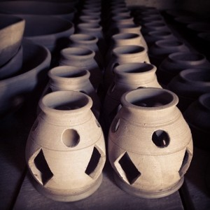 Pottery an hour away from my home in Kigali. Photo credits: Haili Kong