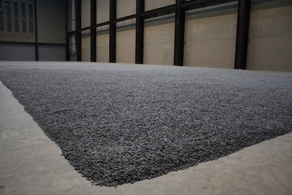Image: Ai Weiwei,  Sunflower Seeds  (installation view), 2010. Painted porcelain, variable dimensions, installation view. Tate Modern, London, England. Photo: Lily Hibberd.