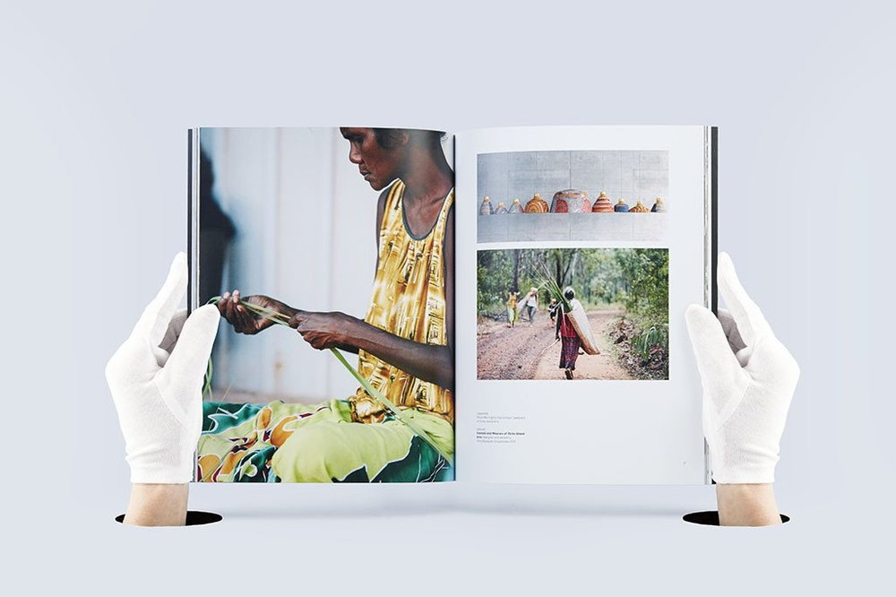 Pages from  Rigg Design Prize  showing Elcho Island Weavers (NT).