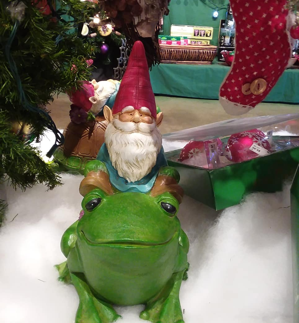 and did not see these toadily awesome Gnomes.
