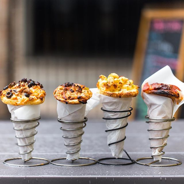Today I discovered that pizza cones are a thing and my life is forever changed.