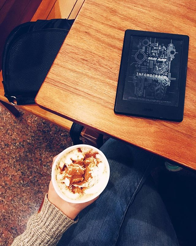 """Even though I miss my chestnut praline lattes, I can't complain about having access to churro lattes. Nope. Can't complain at all 😋 What is your favorite flavored latte?⠀ -⠀ #readinginthemargins catchup: ⠀ -⠀ Day 13: South Asia (I have 2 for this one)⠀ 🗝️ The Devourers by Indra Das ⠀ Guys, on Amazon this book is marketed toward """"readers of Neil Gaiman, Margaret Atwood, China Mieville, and David Mitchell."""" UMM you had me at Margaret Atwood AND David Mitchell. But this is also a South Asian dark fantasy with elements of horror set in Kolkata, India? HOW MANY WAYS CAN I SAY YES TO THIS. ⠀ 🗝️ The Pauper Prince and the Eucalyptus Jinn by Usman T. Malik⠀ This is a fantasy novella that follows a Pakastani professor in the States who is being haunted by stories of a princess and a Jinn his grandfather told him when he was a boy. I've been on a Tor.com originals kick ever since I read JY Yang's Tensorate series and this looks like a great one!!!⠀ -⠀ Day 14: South America⠀ 🗝️ Ghosts by Cesar Aira⠀ Originally published in Spanish, Ghosts is a novel written in the experimental and surrealist style of Argentinian author Cesar Aira. The events of the novel take place over the course of one day, New Year's Eve, when prospective owners of an apartment visit the construction site and encounter three ghosts. I need this book in my life! Also sounds like a perfectly weird and trippy Halloween read.⠀ -⠀ Day 15: Central America⠀ 🗝️Infomocracy by Malka Older⠀ This is a cyberpunk political thriller written by Daniel Jose Older's sister, Malka Older. She's also a humanitarian worker and a PhD Candidate in governance and disasters?? Here for all of her bad-assery. ⠀ -⠀ Day 16: Carribean⠀ 🗝️ Redemption in Indigo by Karen Lord⠀ Mentioning this again because I still REALLY need to read it. It retells a series of Senegalese fairytales and as a fan of Karen Lord already, I'm SO here for this.⠀ -⠀ In other words, my TBR has grown exponentially once again! GAHHH SO MANY BOOKS TO READ 🙈 -⠀ #writers"""