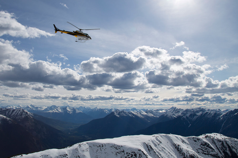 Yellowhead Astar56 Flying Over Mountain
