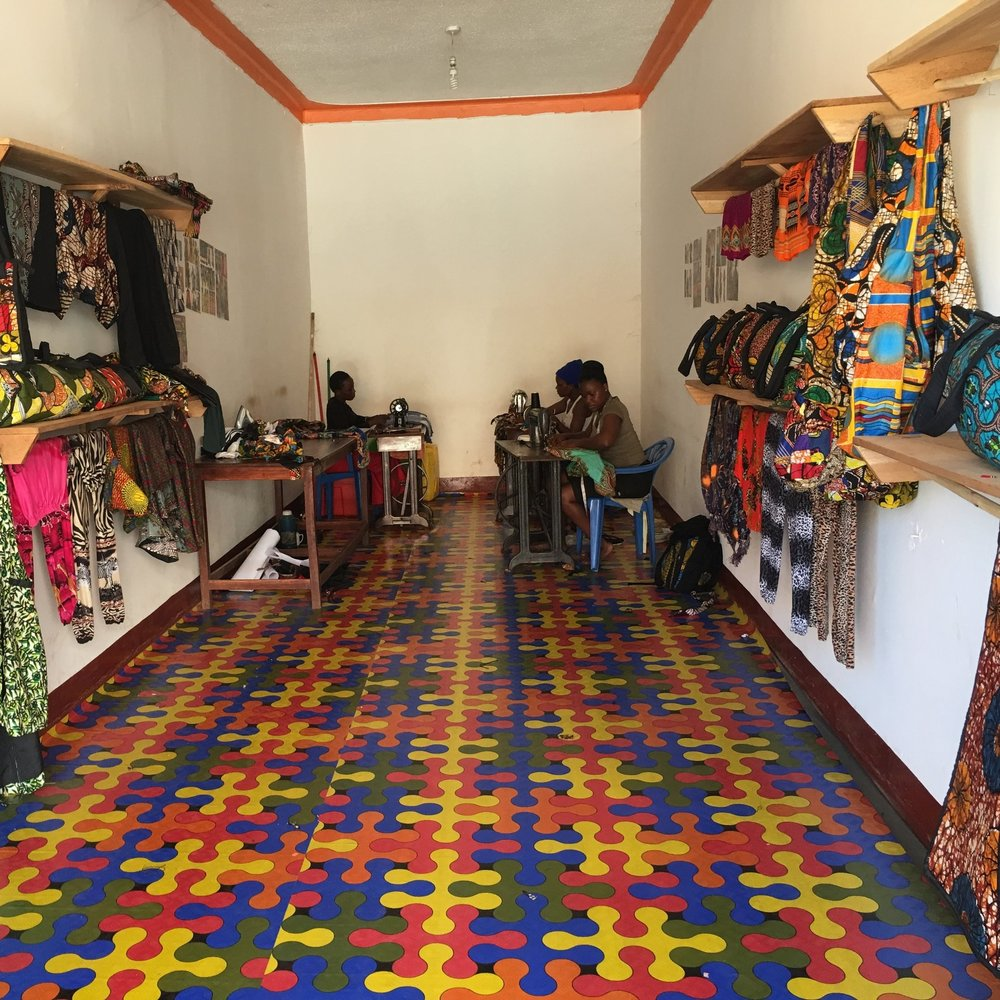 ...trained and assisted a coop of women to open their own store -