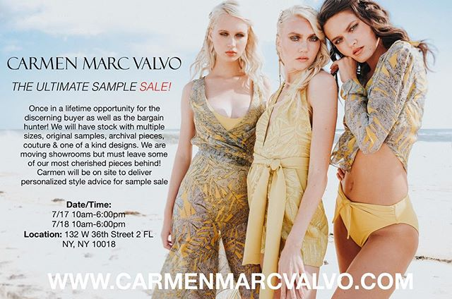 It was the first time I participated in my own sample sale And I actually had loads of fun. I met some incredible people a glamorous judge a psychologist, the dynamic duo, the cupcake girls, and my new BFF Cindy. I decided to continue the sample sale for another two days Tuesday and Wednesday from 10-6pm. I will be there and I can help you find the perfect peace for your perfect occasion #carmenmarcvalvo
