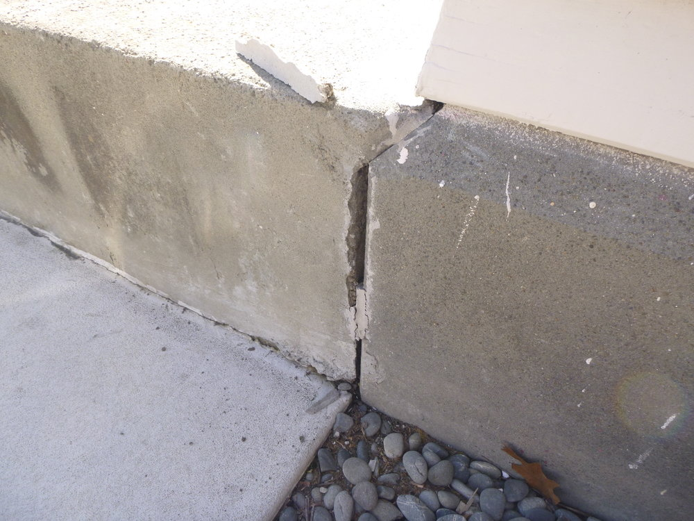 2. Separation of concrete patio and foundation.JPG