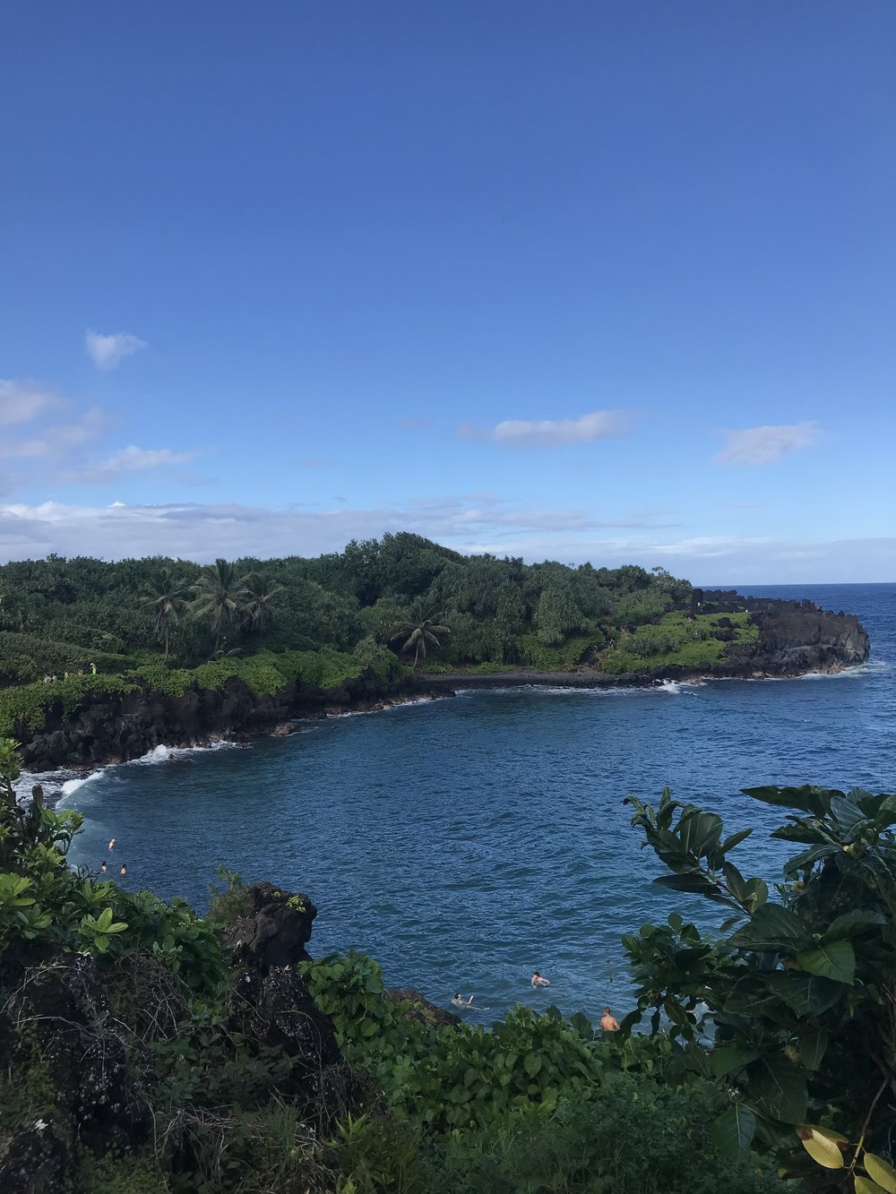 A view from the park at Black Sand Beach