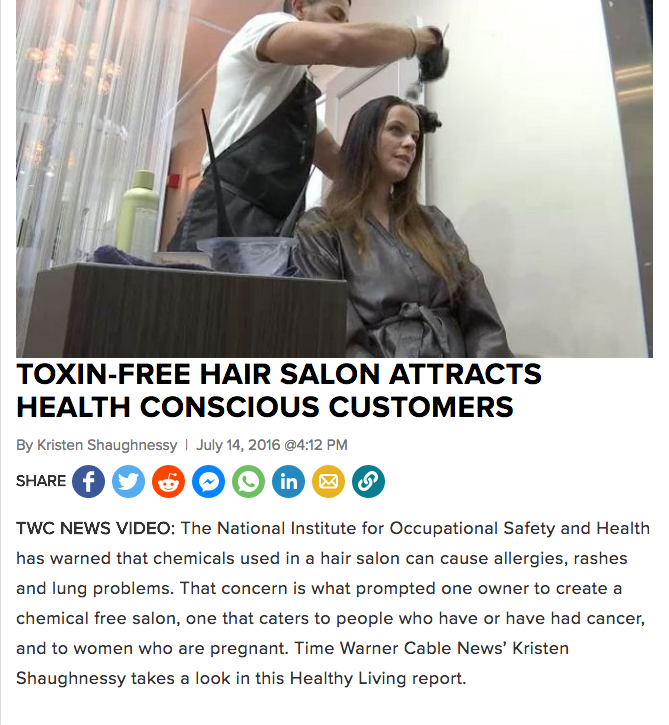 Profiled in segment on health conscious salons - NEW YORK NEWS1 2016