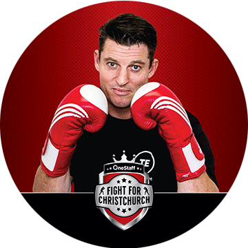Chris Timbs - Sponsored by: Peter Timbs MeatsFighting for: Cure KidsA name synonymous with Canterbury, Chris Timbs is a butcher with Peter Timbs Meats. Rumoured to be training his left hook both at work and at the gym, will Chris take the prize in this unmissable bout? Backed by Fitzy and his rigourous training schedule, this bout might just be a photo finish!