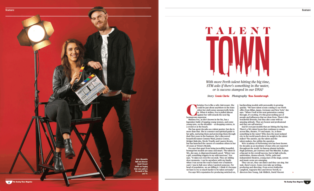 Talent Town Sunday Times Magazine (STM) Written by: Connie Clarke (2017)