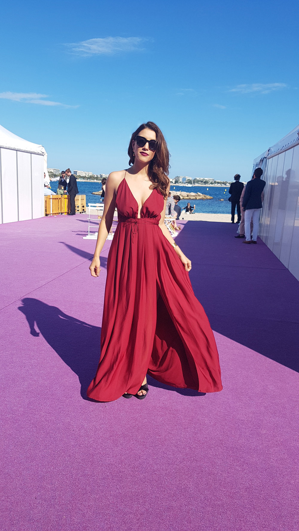 Alexandra Nell at the 71st Cannes Film Festival, attending WHITNEY by Kevin Macdonald (2018)